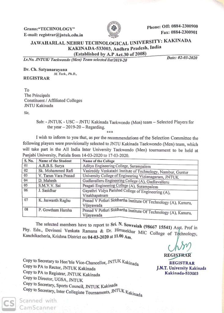Jntu Kakinada Od Application Status